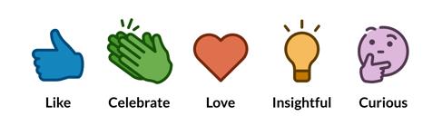 LinkedIn react emojis