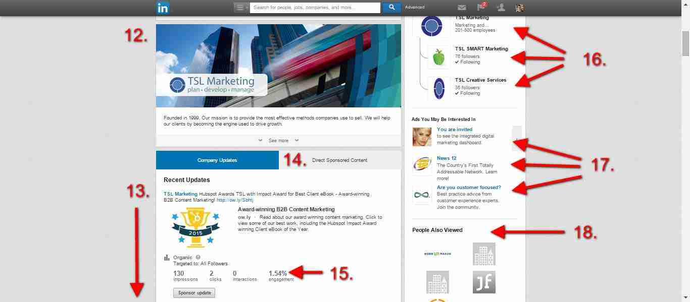 screen-shot-showing-elemenets-of-a-linkedin-company-page-sidebar-and-posts