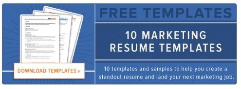 hubspot cta on resume buiding tips for marketers