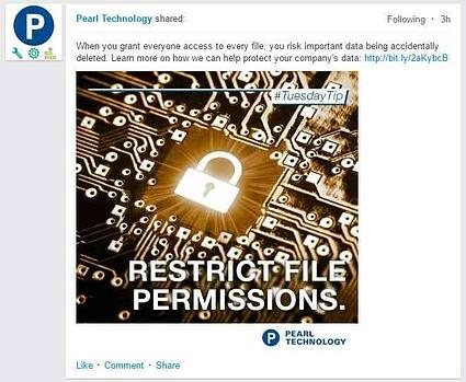 example of a linkedin embedded rich media post