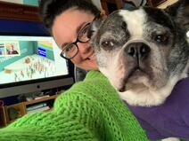 TSL SME Norma and her Boston Terrier Sheldon attend Inbound 2020