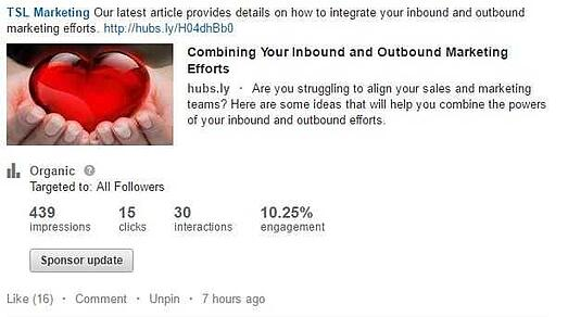 a snapshot of a linkedin organic post with an image