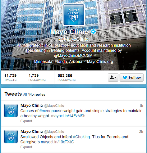 Healthcare Social Media Spotlight: Mayo Clinic