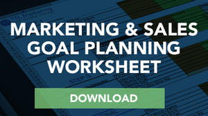Marketing and Sales Goal Planning SLA Worksheet